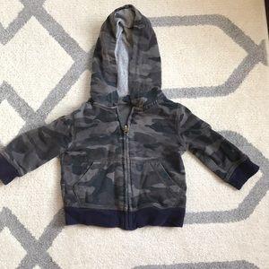 Baby Gap camo hoodie, 12-18m